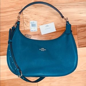Coach Harley F38250 East West Hobo Bag Teal